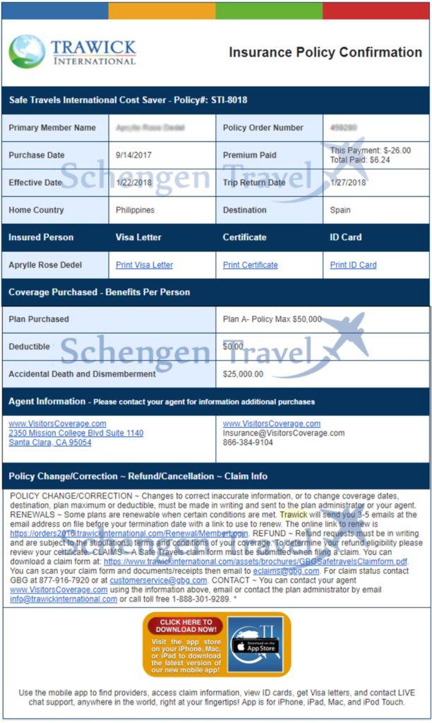 Sample Flight Reservation or Flight Itinerary for Visa Application